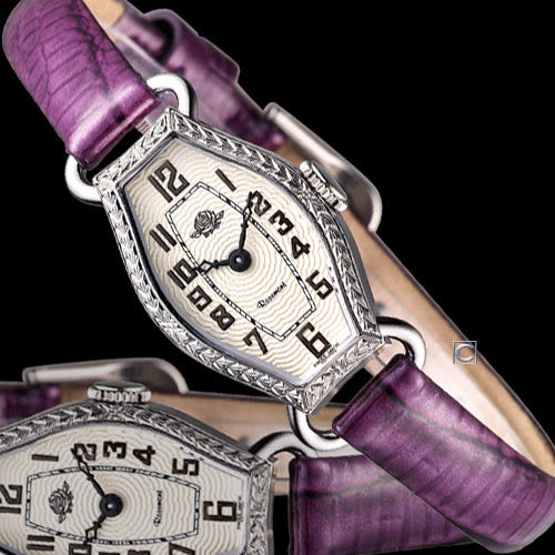 Rosemont 骨董風玫瑰系列腕錶RS-024-04-PU紫色皮