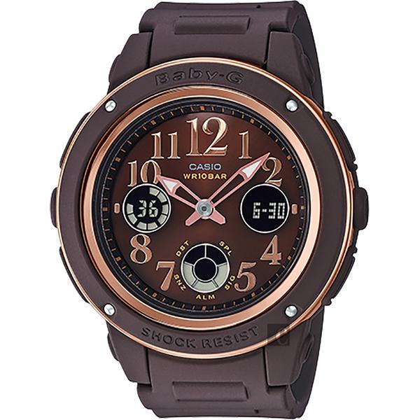 CASIO 卡西歐 BABY-G 秋冬優雅手錶-咖啡 BGA-150PG-5B2 / BGA-150PG-5B2DR