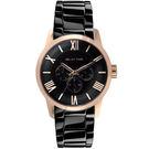 RELAX TIME 羅馬情人日曆腕錶-玫瑰金(RT-65-5M)45mm