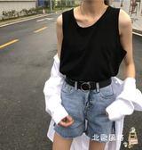 降價兩天-無袖T恤女原宿背心女夏外穿寬鬆正韓學生bf風休閒百搭坎肩