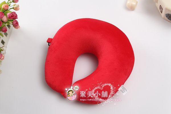 大紅色 奈米微粒(粒子) U型枕 午睡枕 護頸枕 車用靠枕 午安枕 U型枕頭 抱枕 【聚美小舖】