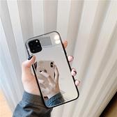 鏡子玻璃殼蘋果手機殼個性創意全包邊防摔保護套【輕派工作室】