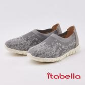 itabella.編織水鑽麻花輕量休閒鞋(0231-85灰色)
