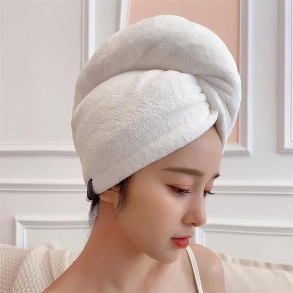 日本雙層加厚干發帽包頭巾超強吸水速干浴帽長發女頭發女士干發巾魔方數碼
