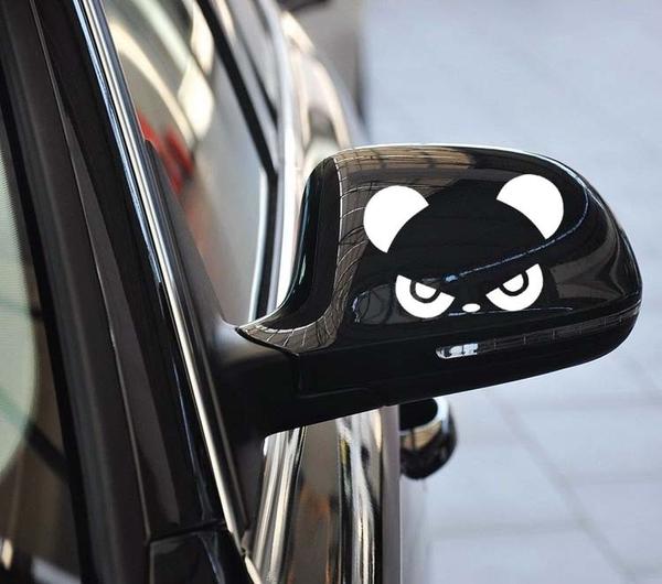 熊貓 後視鏡貼 車身 貼紙 機車貼 燈眉貼 BMW BENZ FORD MAZDA VW 三菱 AUDI 沂軒精品 A0163