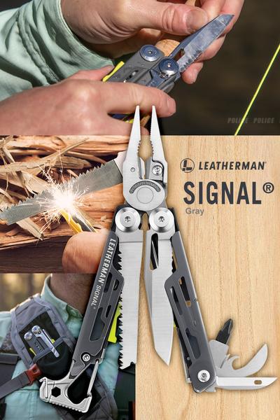 美國Leatherman SIGNAL 灰/黃色工具鉗(公司貨)#832737