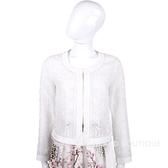BLUGIRL 白色蕾絲織花設計外套 1510861-20