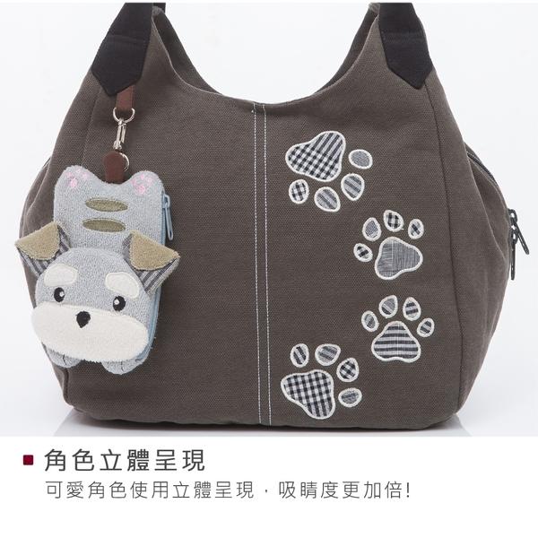 Kiro貓 雪納瑞 三層 拼布包 外出/手提/肩背包【810087】