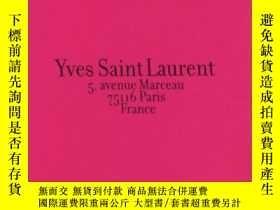 二手書博民逛書店Yves罕見Saint Laurent 5, Avenue Marceau, 75116 Paris, Franc