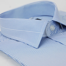 【金‧安德森】藍色變化領窄版短袖襯衫