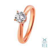 ﹝鑽石屋﹞1.03分鑽戒 一克拉玫瑰金鑽石戒指  DA035728