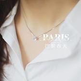 項鏈-韓國精致進口水鉆時尚鎖骨鏈 巴黎春天