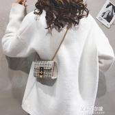 迷你包 小清新鍊條小包包女新款側背迷你小方包百搭時尚斜背小包 朵拉朵YC