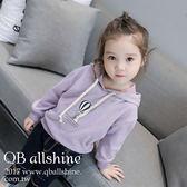 男童上衣 女童上衣 個性中性熱氣球字母連帽長袖衛衣上衣 QB allshine