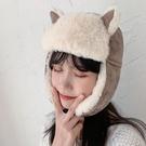 帽子女秋冬季騎車防風保暖雷鋒帽韓版潮可愛貓耳朵護耳 『優尚良品』