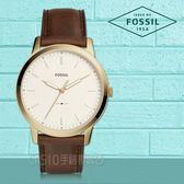 FOSSIL手錶專賣店 FS5397 極簡主義 指針男錶 皮革錶帶 象牙白錶面 防水50米 全新品 保固