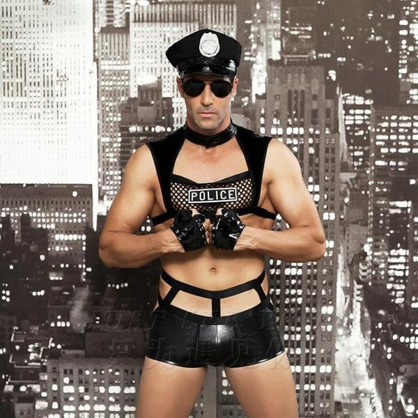 [男情趣套裝]波麗士大人 警察 背心制服警棍警帽 派對尾牙節目萬聖節【CH_6603】