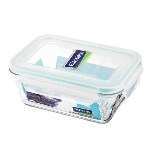 ★買一送一★Glasslock強化玻璃微波保鮮盒-Wave系列(950ml)【愛買】