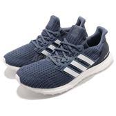 adidas 慢跑鞋 UltraBOOST 4.0 藍 白 運動鞋 頂級緩震 運動鞋 男鞋【PUMP306】 CM8113