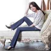 Victoria 彩繡丹寧牛仔靴型褲-女-中藍-VW1158