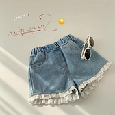 夏季時尚韓版舒適軟牛仔蕾絲短褲