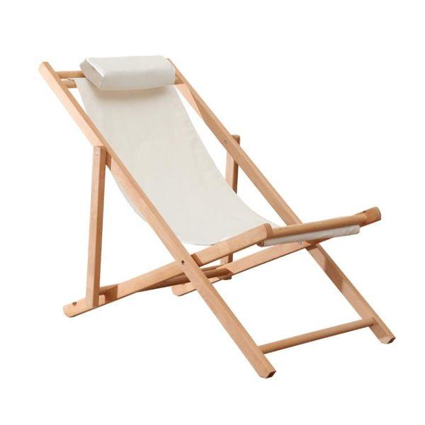 全館83折 折疊椅戶外陽臺午休椅子櫸木躺椅懶人沙發家用休閒椅實木沙灘椅子