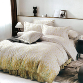 【Indian】100%純天絲雙人加大四件式鋪棉床包兩用被組-艾琳夢境6*6.2