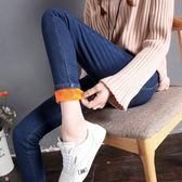 大韓訂製九分牛仔褲韓高腰長褲女裝加厚大尺碼彈力加絨 打底褲