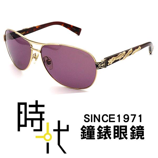 【台南 時代眼鏡 ED Hardy】墨鏡太陽眼鏡 EH1010 GOLD 美式潮流x日本工藝
