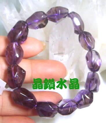 天然紫黃晶手鍊~早期商品亮透度超棒 29公克*送禮物佳-附禮盒*免運費