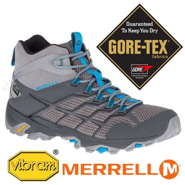 【MERRELL 美國】MOAB男GORE-TEX中筒多功能健行鞋『灰/藍』77491 多功能鞋.休閒鞋.登山鞋