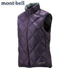 丹大戶外 日本【mont-bell】LT Alpine女款羽絨背心/保暖超輕量 型號1101364-EP 茄紫