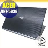【Ezstick】ACER VN7-593 VN7-593G Carbon黑色立體紋機身貼 DIY包膜