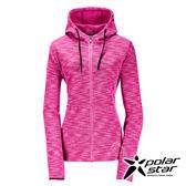 PolarStar 女 刷毛保暖外套 『紅紫』P17246 排汗.透氣.保暖.中層衣.帽T外套.旅遊.戶外.連帽外套