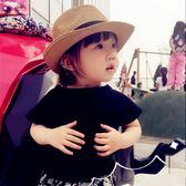 兒童帽子女男童女童沙灘防曬帽遮陽帽兒童草帽親子夏季寶寶太陽帽『櫻花小屋』