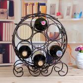 葡萄酒架 創意歐式時尚鐵藝復古放紅酒架子倒壁掛式杯架擺件  全館88折