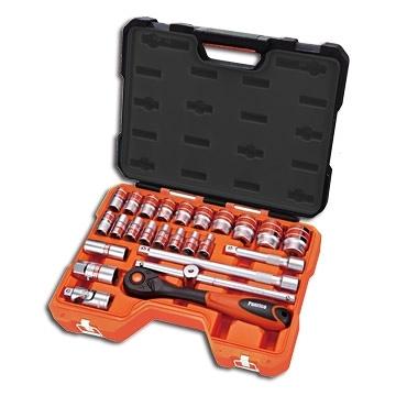 4分25件套筒扳手工具組 含4分套筒 火星塞套筒 棘輪扳手 滑動T型扳桿 萬向接頭 延長桿 台灣製造