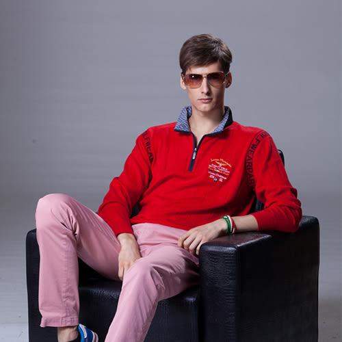 *86精品*紅色襯衫領毛衣,暖色調帶來秋冬熱情如火的視覺,令人耳目一新。【86863-30】