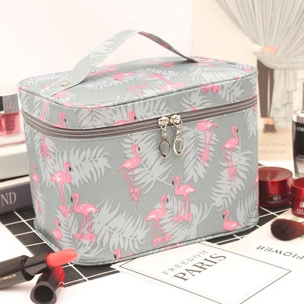 化妝包ins網紅化妝包女便攜大容量旅行防水隨身少女心化妝品收納盒袋箱 美物 交換禮物