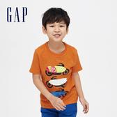 Gap男童棉質舒適圓領短袖T恤541073-焦黃色