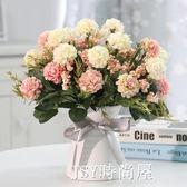 馥郁仿真花玫瑰花藝套裝花卉盆栽含花瓶假花裝飾絹花客廳餐桌擺件QM   JSY時尚屋