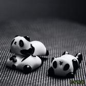 包有味道日式陶瓷筷子架卡通可愛熊貓白菜筷托 筷子枕廚房擺盤餐具