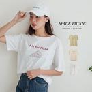 上衣 Space Picnic pizza印圖短袖上衣(現+預)【C21052107】