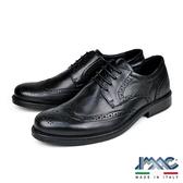 【IMAC】義大利翼紋雕花皮飾德比紳士氣墊鞋  黑色(100280-BL)
