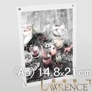 【Lawrence羅蘭絲】兩片式壓克力桌立框A5 展示架 菜單架 獎狀框 證書框 佈告欄 壓克力框