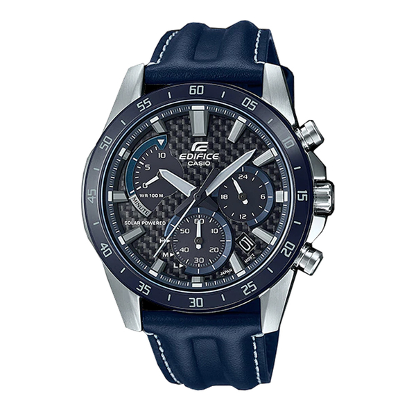CASIO 卡西歐 手錶專賣店 EQS-930BL-2A EDIFICE 太陽能 指針男錶 皮革錶帶 防水100米 EQS-930BL