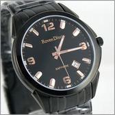 【萬年鐘錶】 Roven Dino 羅梵迪諾 楊丞琳代言 全黑金男錶 RD631B