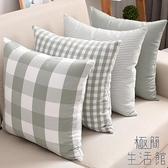 靠墊套沙發抱枕套床頭大靠背套靠枕含枕芯靠墊【極簡生活】