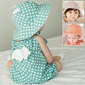 可愛耳朵點點盆帽 遮陽帽  大遮陽帽.盆帽   橘魔法 Baby magic 現貨