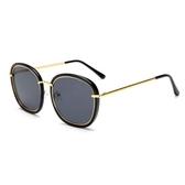 太陽眼鏡墨鏡女潮2020新款明星款個性太陽鏡黑色偏光圓臉大框機車時尚彩色眼鏡  後街五號